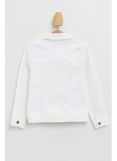 DeFacto Regular Fit Jean Ceket Beyaz